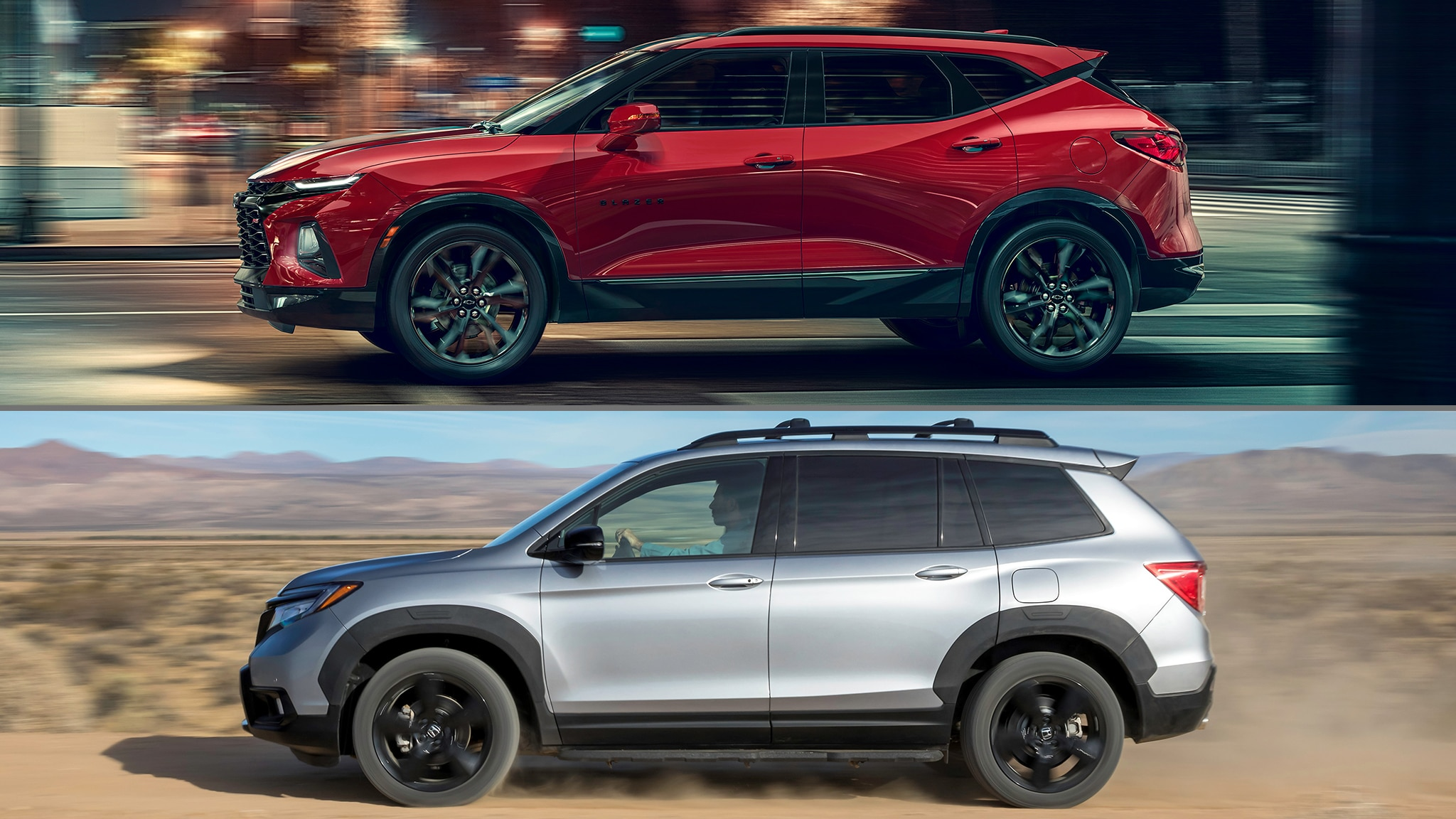 2019 Honda Passport 2019 Chevrolet Blazer Graphic